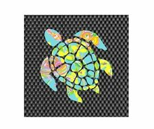 "Sea Turtle in Lilly P Yeti/Tumbler Decal ***item is 3"" X 3"" ***"