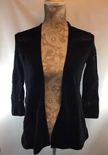 Style & Co. NEW Black Womens Size XS Open Front Cardigan Sweater $69