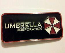 Nuevo Resident Evil Umbrella Corporation Hebilla De Cinturón 11 Cm X 5 Cm