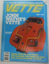 Vette Magazine John Wayne's Vette May 1983 050215R