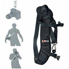 Black Focus F-1 Single Shoulder Sling Belt Strap for DSLR SLR Camera Quick Rapid
