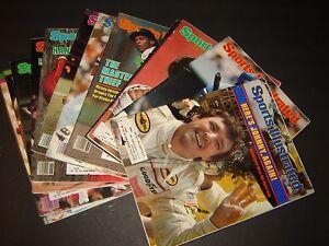 12 Sports Illustrated magazine lot 1980, 1982, 1983 Sugar Ray-Rickey Henderson