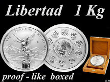 Libertad 2011 MEXICO - 1 kg / Kilo  SILVER-Coin, EXTREMELY RARE  PROOF -like