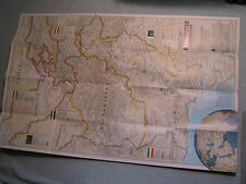 AFGHANISTAN AND PAKISTAN WALL MAP National Geographic December 2001 MINT