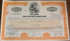 100 Pieces: 'Ual / United Air Lines, Inc.' Stock/Bond Certificates