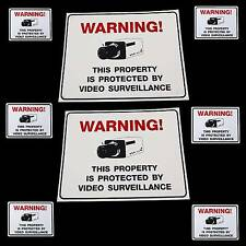 LOT HOME SECURITY CAMERA WARNING SIGNS+6 STICKER DECALS