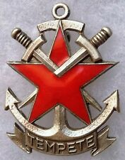 Insigne Badge Commando Marine TEMPÊTE Indochine AFN ORIGINAL Courtois
