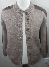 Womens GUCCI Wool Mohair Blend Crew neck Button Vintage Brown Sweater Size 44