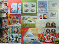 WORLD WAR II WW2 100 diff. sheets & sets MNH Sale Lot FREE SHIPPING #SL01