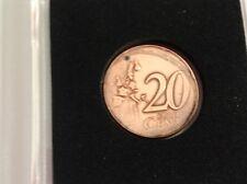 20 CENTIMES EUROS FRANCE SUR UN FLAN DE 5C 1999 FAUTEE