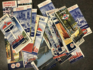 49 State Road Highway Maps - 1950s-60s - Standard Oil, Amoco, Pan-Am, Chevron