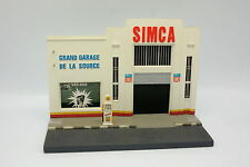 Diorama 1/43 - Station Garage Simca Pompe Shell Résine - Plâtre
