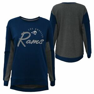 Outerstuff NFL Girls Youth (7-16) Los Angeles Rams In The Mix Crew Neck T-Shirt