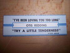 "1 Otis Redding Try A Little Tenderness Title Strips Cd 7"" 45Rpm Records"