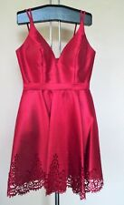 Sherri Hill Red Prom Homecoming Party Laser Cut Dress 6 A816-1