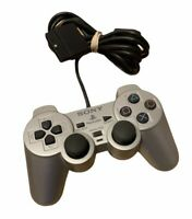 Original Silver  SONY PS2 PlayStation 2 Wired Dualshock Controller