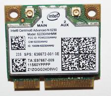 Intel 62230ANHMW 802.11n Centrino 6230 WiFi PCI-E Half card for 636672-001 HP