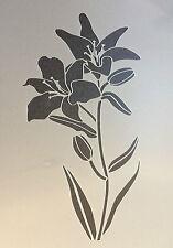 Lily fleur plante floral A4 mylar réutilisable pochoir aérographe peinture art craft