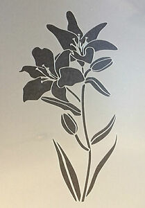 Lily Flower Plant floral A4 Mylar Reusable Stencil Airbrush Painting Art Craft