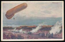 661087) AK 1.WK Fesselballon unsere Artilleriewirkung beobachtend