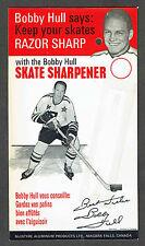 1960's  Bobby Hull Skate Sharpener, Display Card Only...