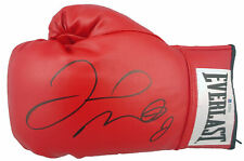 Floyd Mayweather Jr. Signed Red Everlast Leather Boxing Glove BAS Witnessed
