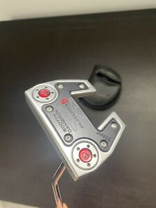 """Rare Left Hand Scotty Cameron Futura X5 Putter 34"""" With Cover"""