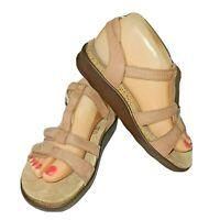 SAS Footwear Women's Sorrento T-Strap Sandal - Praline Size 7 M