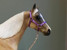 Traditional Scale Lavender Model Horse Halter For Breyer