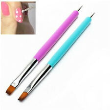 New Nail Art Pen Painting Dotting UV Gel Polish Brush Liner Tool Random Color