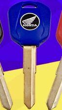 89-99 Blank Key Uncut Blade Honda CBR 600,900,929,954 & More Models. Blue Only