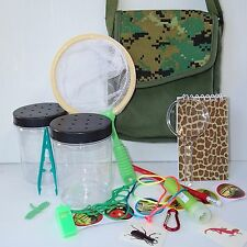 EXPLORER BAG +Insect KIT Bug Catcher Magnifying glass  viewer net torch