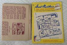 Vintage Aunt Martha's hot iron transfers 3305 barnyard romance