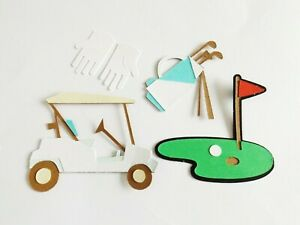 Golfing Sports Papercraft Embellishments Golf Scrapbooking Card Toppers Crafts