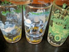 LOT OF 3 VINTAGE CAR JUICE GLASSES - GOOD CONDITION (1 HUDSON, 1 MAXWELL, 1 CAD