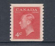 Canada Sc 300 MNH. 1950 4c dark carmine KGVI perf 9½ coil
