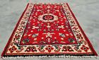 Authentic Hand Knotted Vintage indo Wool Area Rug 3 x 2 FT (11272 KBN)