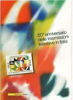 ITALIA - FOLDER 2004- 50° TRASMISSIONI TELEVISIVE IN ITALIA FACCIALE € 11,00