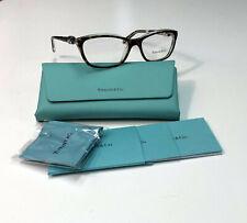 Tiffany & Co TF2074 8155 Havana / Transparent Havana Silver Ribbon Eyeglass RX