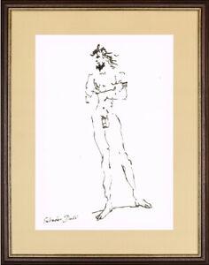 SALVADOR DALI - old sketch INK - GREAT ART !!!