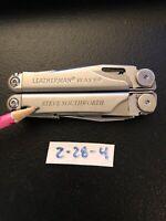 Item 2-28-4: Updated Leatherman Wave Multi Tool Plier Stainless (repair needed)