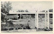 c1930s Rose Garden, Odd Fellows Home, Green Bay, Wisconsin Postcard