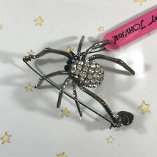 Spider Pin Brooch Hard To Find Rare Brand New Betsey Johnson Crystal Large