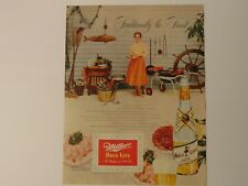 New listing 1953 Miller High Life Beer Milwaukee New England Shore Seafood vintage print ad
