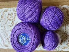 Cebelia Crochet Thread color 208 violet purple 1 new and 3 partial