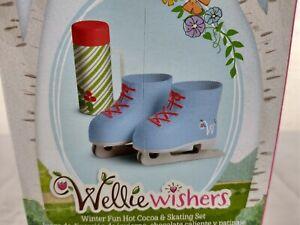 American Girl Wellie Wishers Winter Fun Hot Cocoa & Skating Set ~ Box Creases