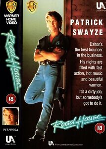 Road House, Patrick Swayze. VHS. Tested & Works