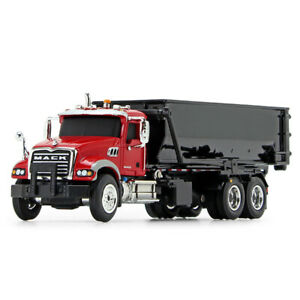 HO 1:87 First Gear MACK GRANITE w/TUB-STYLE ROLL-OFF Container Red & Black NIB