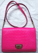 KATE SPADE Orchard Valley Fiona pink Croc Leather Shoulder Bag Purse crossbody