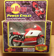 Mega Masters - 1/18 Scale Motorcycle Red / white / gold MOTO-1 Sport Bike